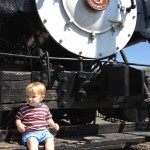Number Two and locomotive 1