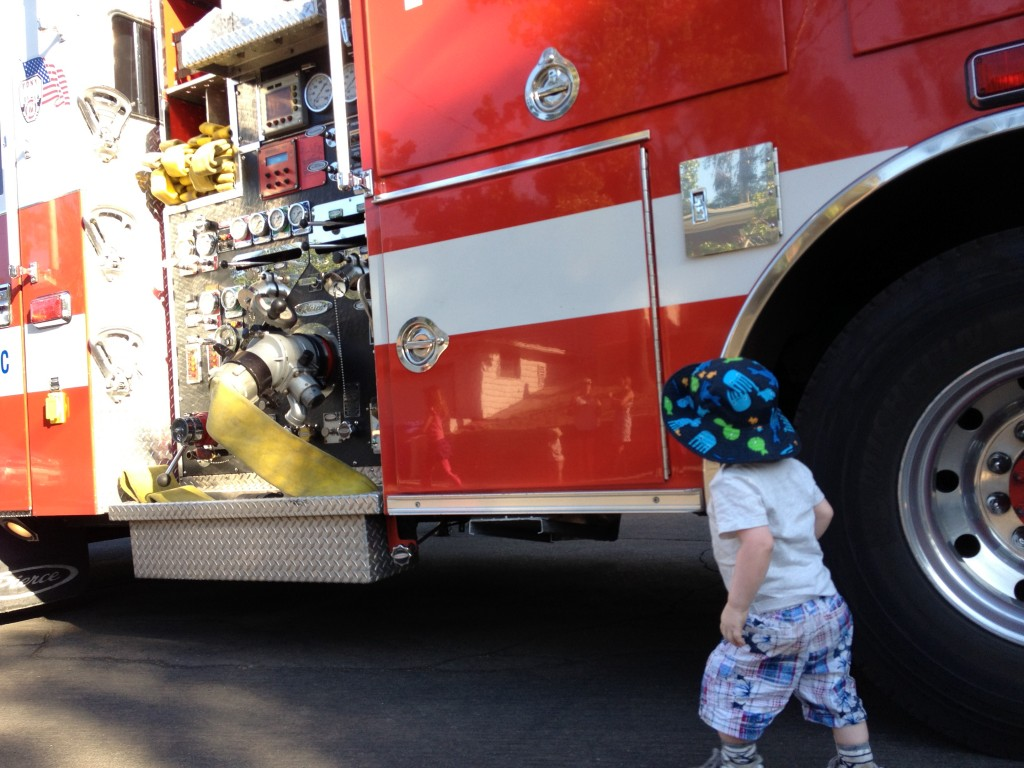Number Two and firetruck 1