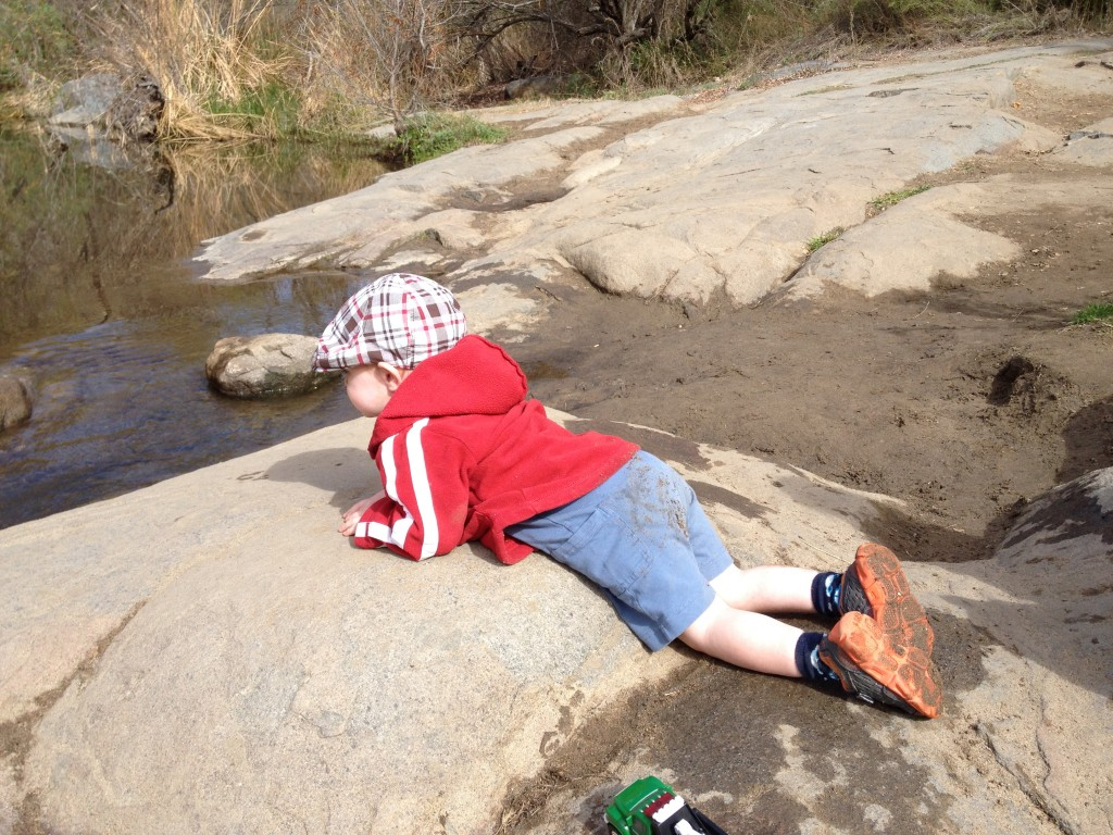 Number Two contemplating the river