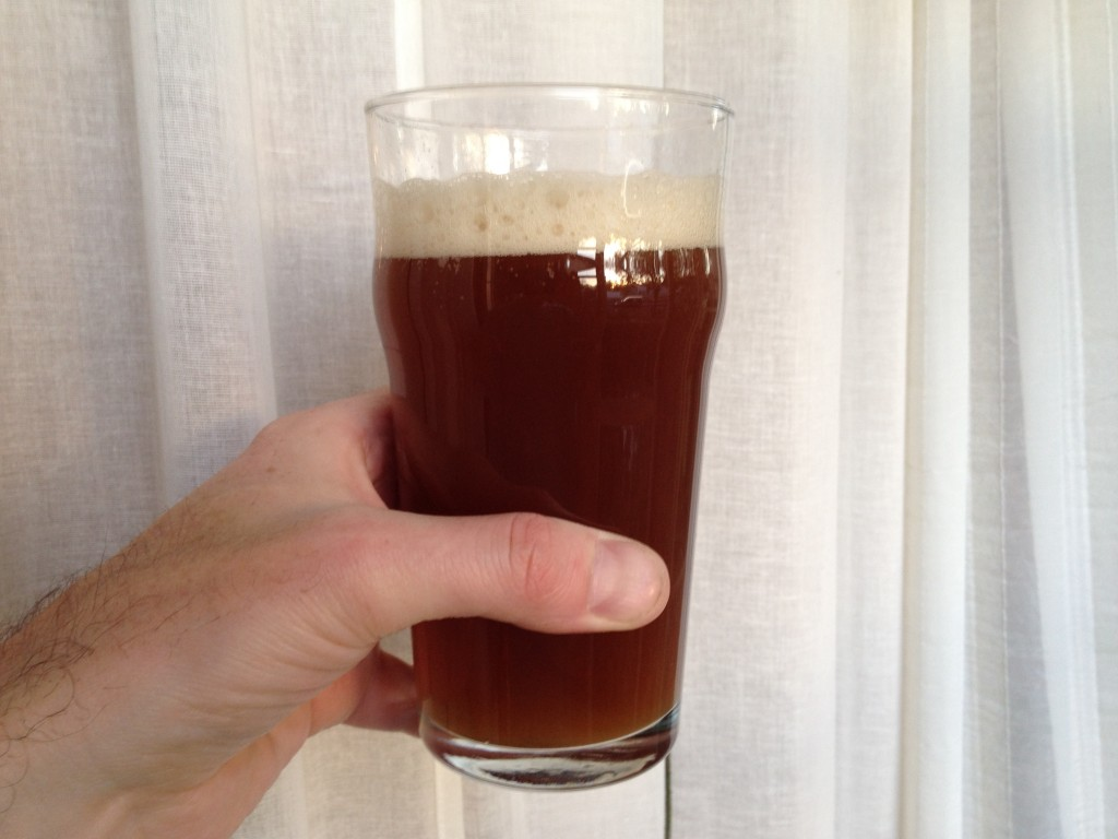 Smoked wheat in glass