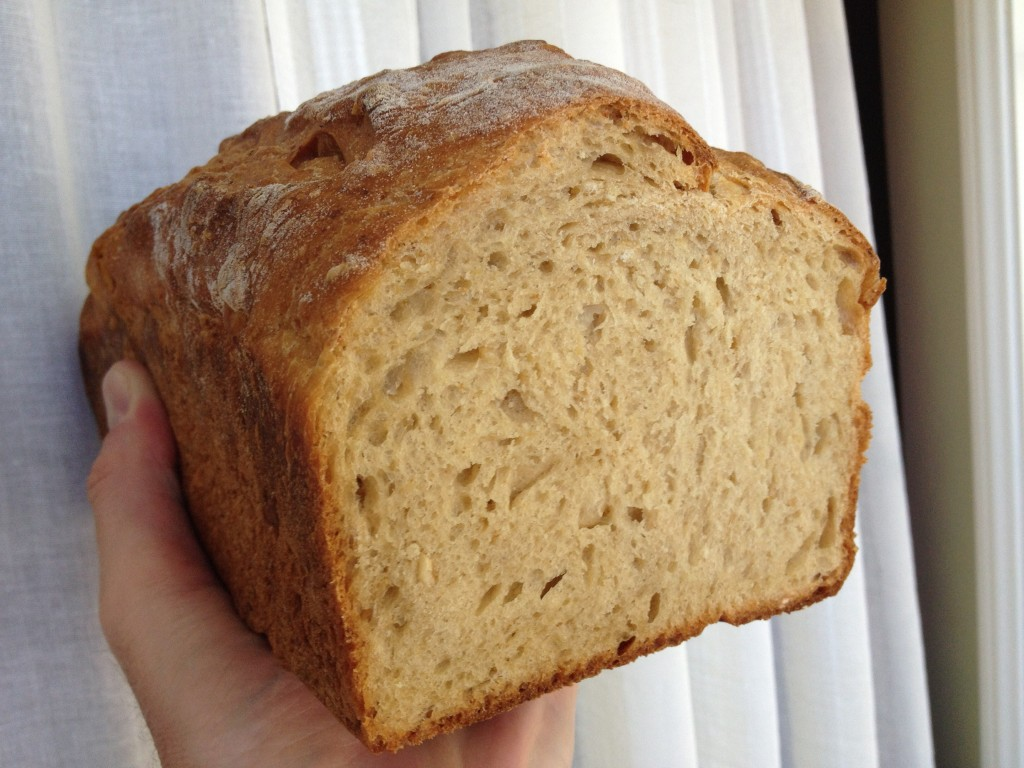 New Bread loaf and crumb