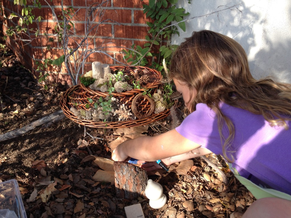 CH working on fairy house