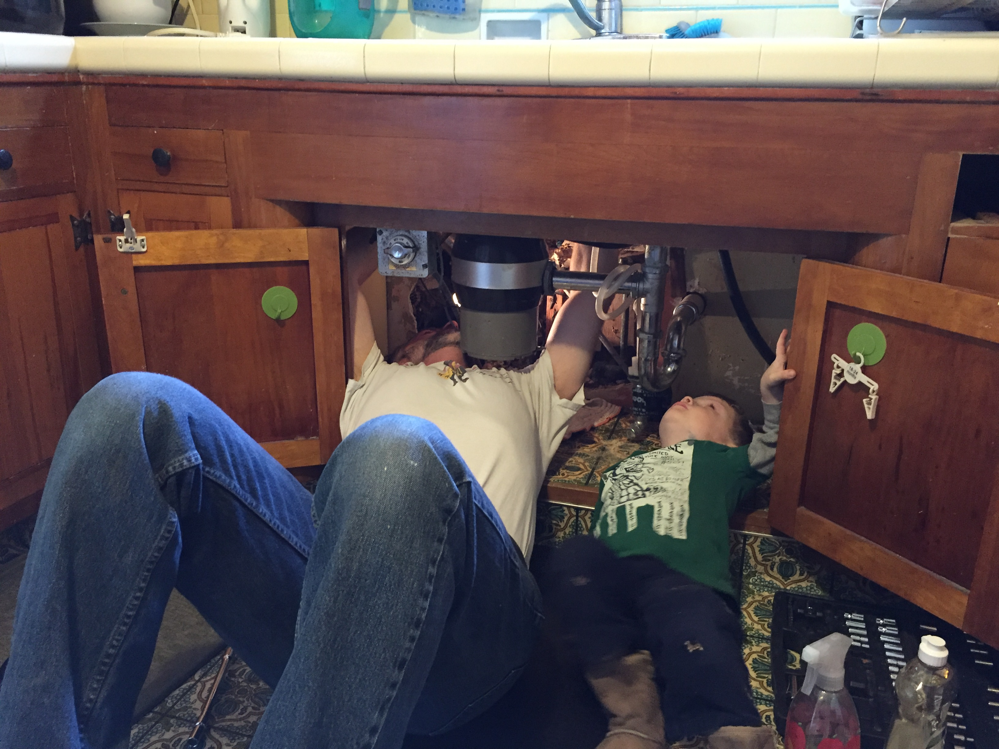 Me and Number Two fixing plumbing